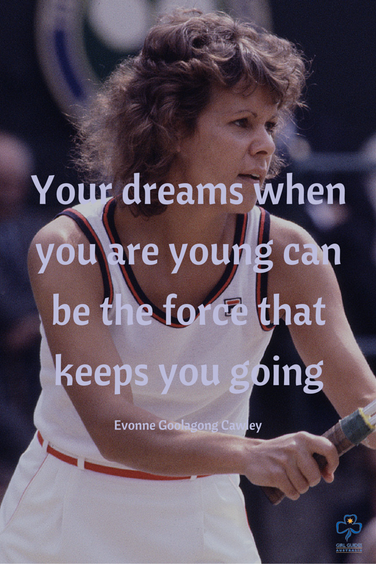 Evonne Goolagong Cawley MBE AO is a Wiradjuri woman and tennis