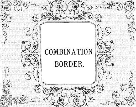 vintage vector clip art antique victorian border combinations diy rh pinterest com Damask Border Clip Art Damask Border Clip Art