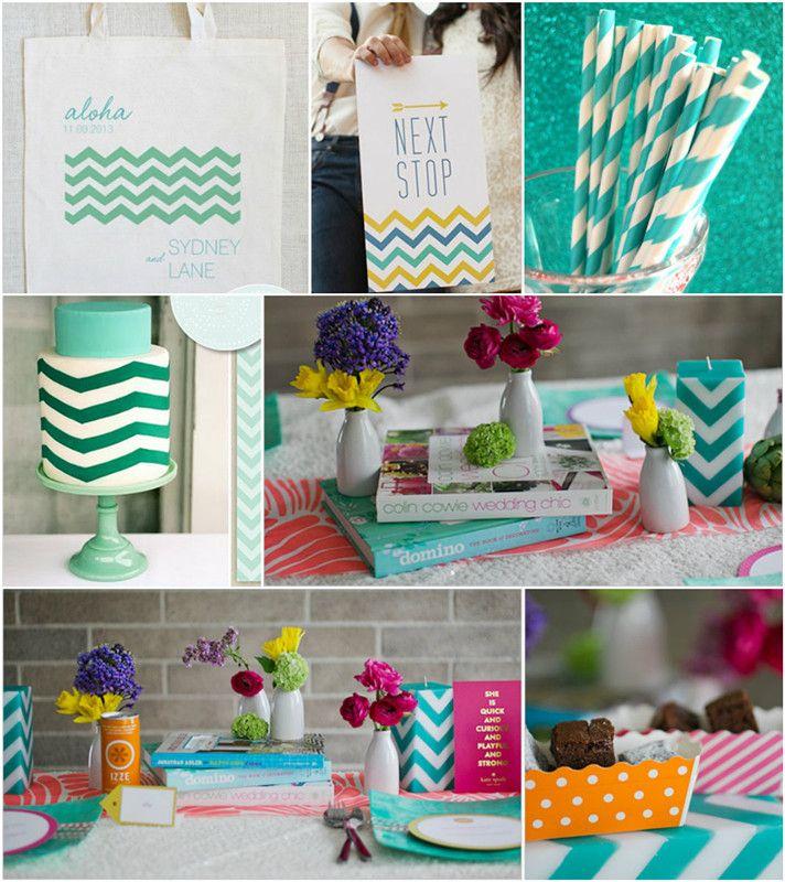 Fashionable Hochzeit Inspiration 2014—Mint Grün Streifen Hochzeit Style im Trend!