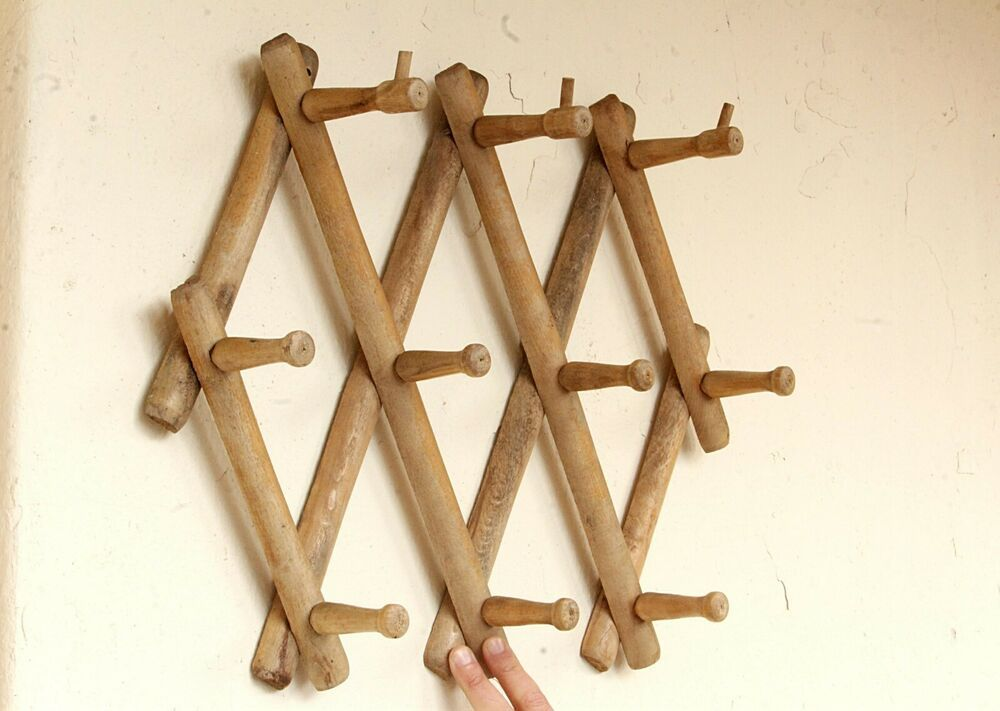 10 Hook Torched Wood Wall Mounted Expandable Accordion Peg Coat Rack Hanger Acorrdion Unknown With Images Torch Wood Burled Wood Coffee Table Wood Wall