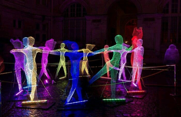 for this years nuit blanche in paris the artist along with timothy toury created a captivating light installation - Captivating Light Installation Artists