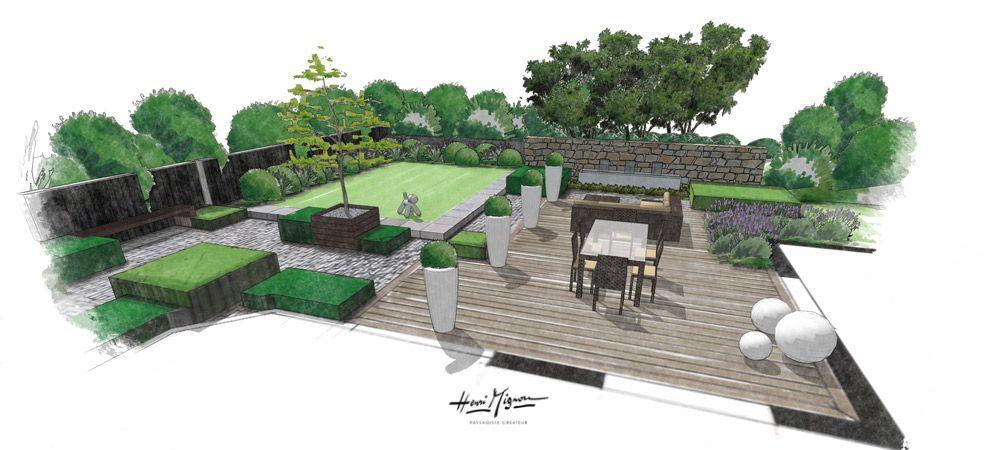 Aménagement Jardin Perspective, Dessin Aux Feutre, Cours De Dessin,  Atelier3113 | Croquis De Paysage | Pinterest | Terrace Design, Roof Deck  And Perspective