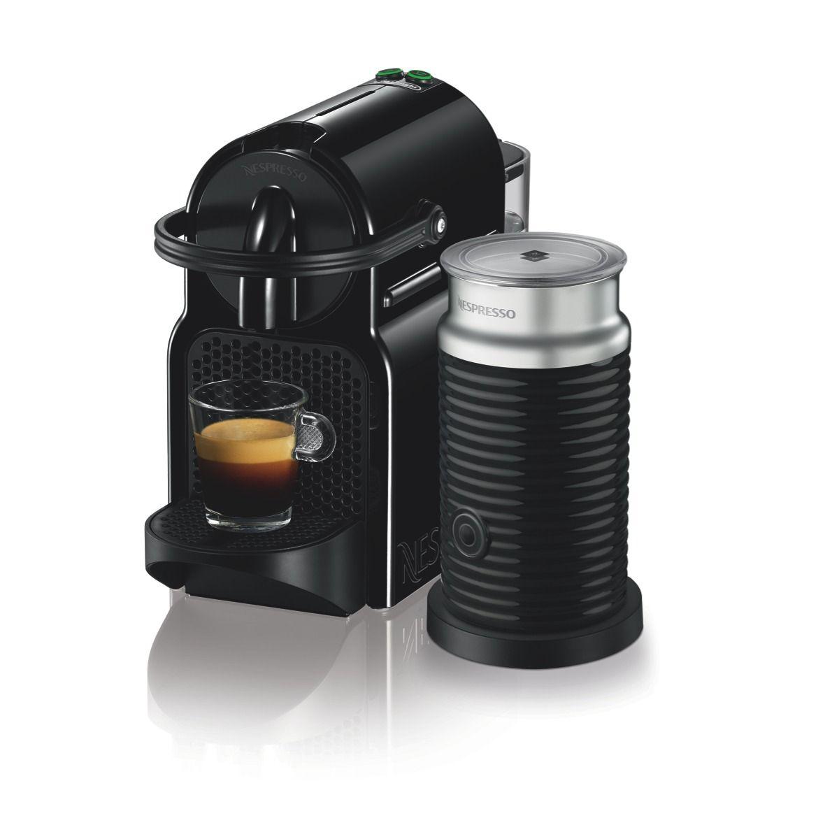 delonghi nespresso inissia coffee machine bundle (black