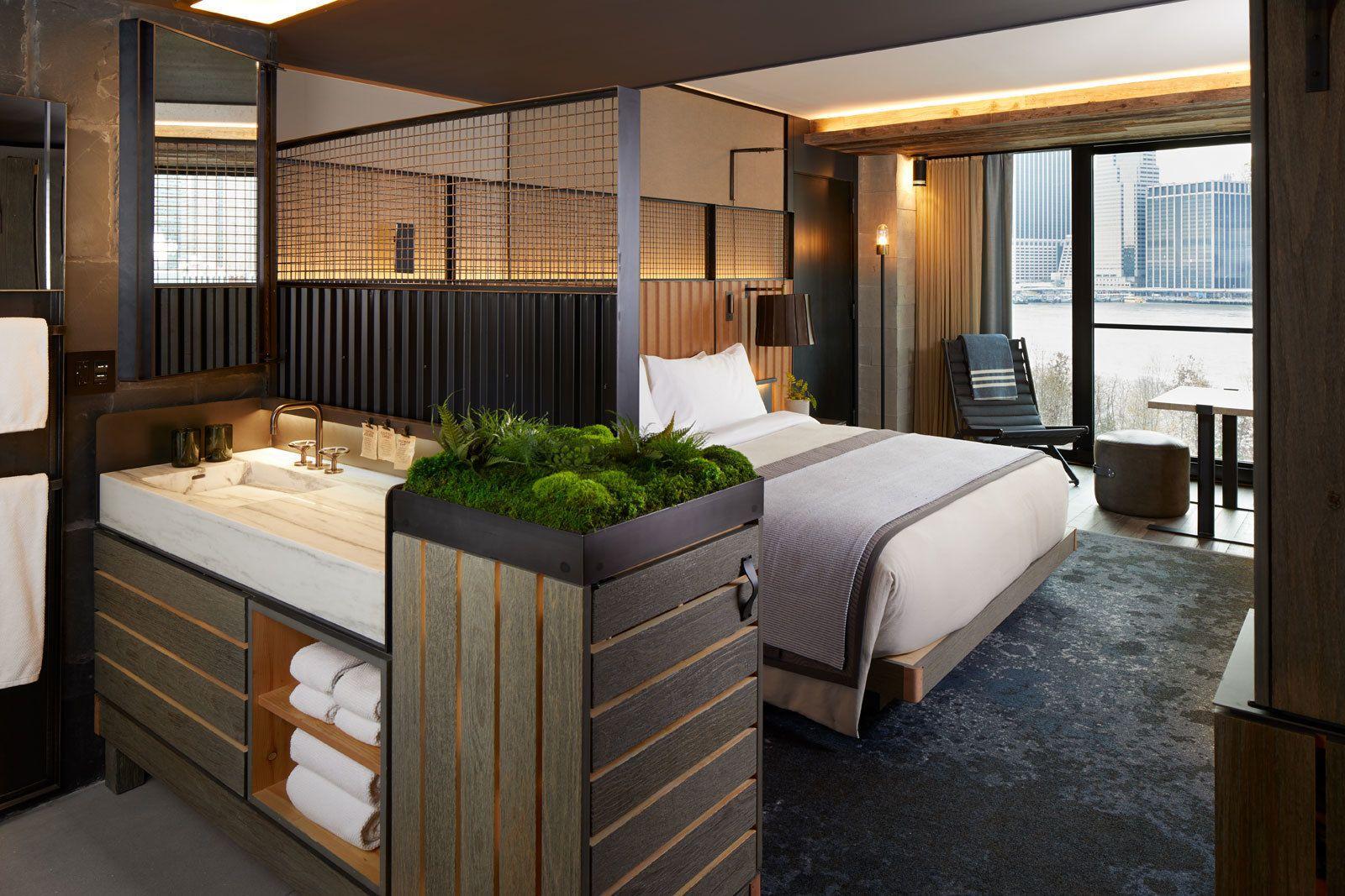 1 Hotel Brooklyn Bridge Nyc Brooklyn Hotels Hotel Room
