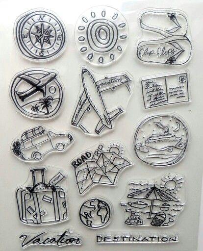 Estas pensando en hacer un album de viaje? En www.scrapasueños.es tenemos sellos geniales como estos. Enlace directo http://scrapasueños.es/Tienda/Sellos/Sello-viaje-vacaciones/?cc=4&codCat=1_563