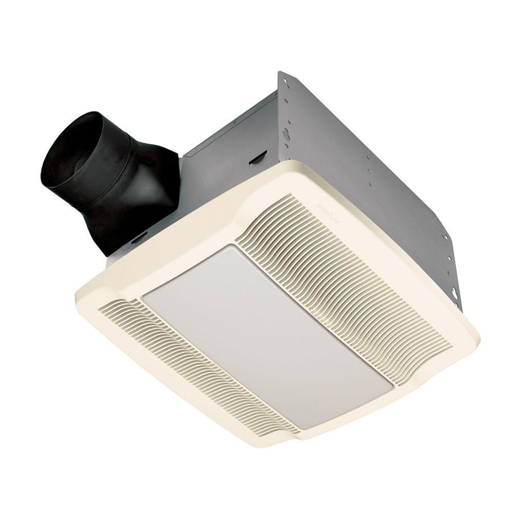 Nutone Qtr Series Quiet 110 Cfm Ceiling Exhaust Bath Fan With Light And Night Light Energy Star Qualified White Bathroom Fan Light Night Light Fan