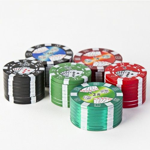 3 Piece Casino Chip Herb Grinder