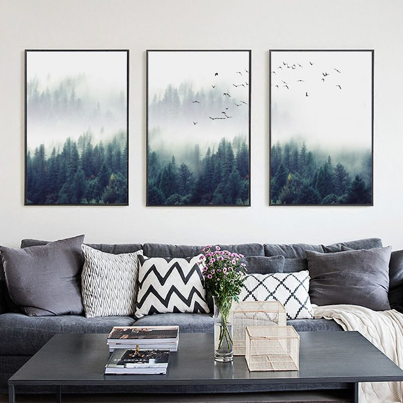 Forest Landscape Wall Art Canvas Poster And Print Home Decor Paintings Living Room Canvas Landscape Wall Art