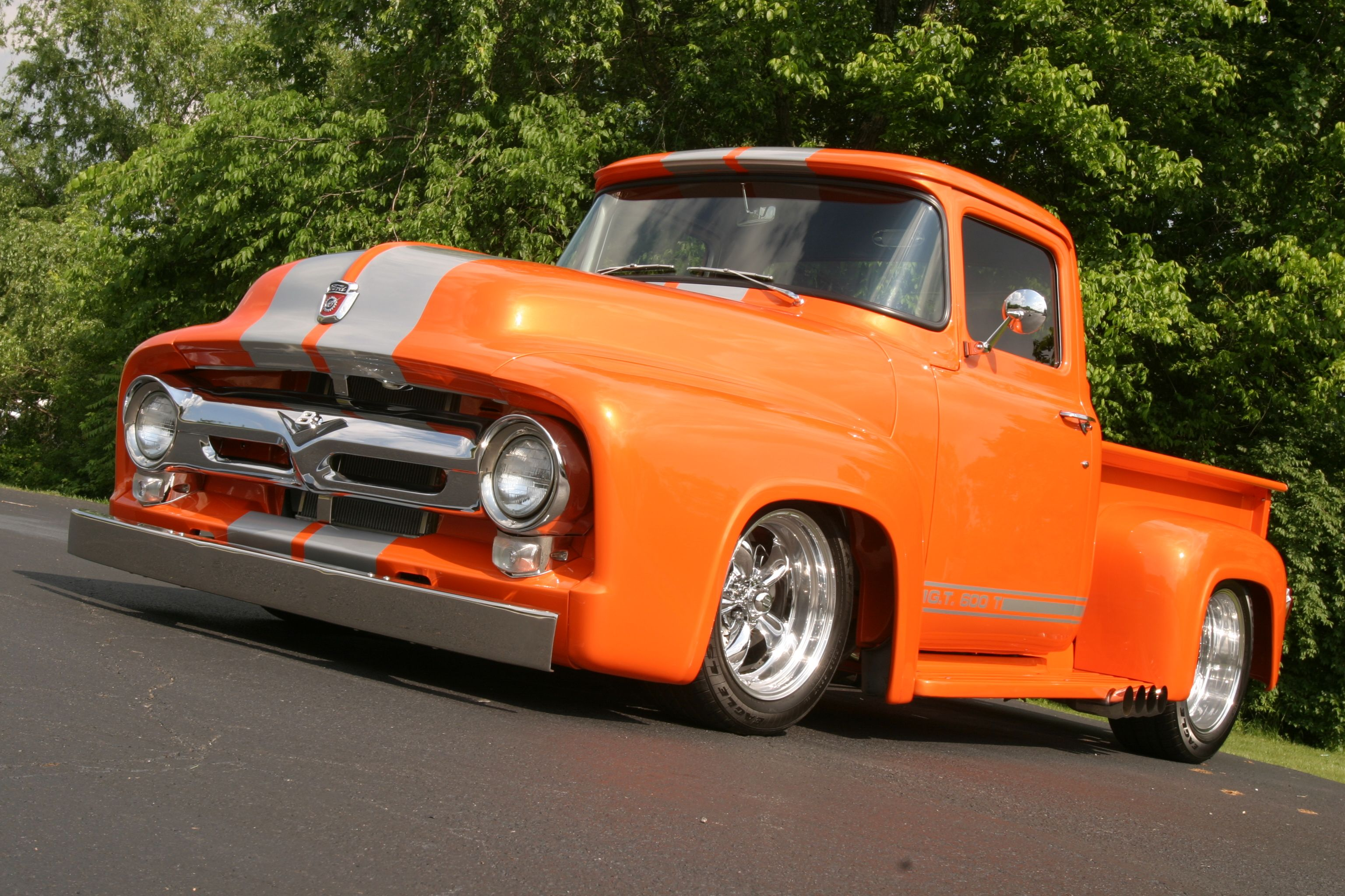 Custom Pickup Trucks Attending The F100 Supernationals With