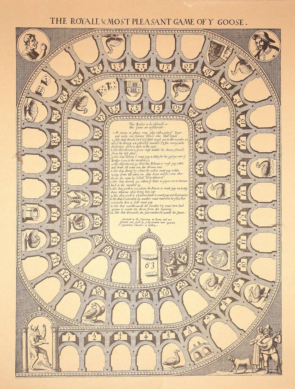 The Royal Game Of Goose This Was The Most Popular Board Game Of The 18th Century And Has Been Called The Monopoly Of It Modern Games Board Games Gaming Blog
