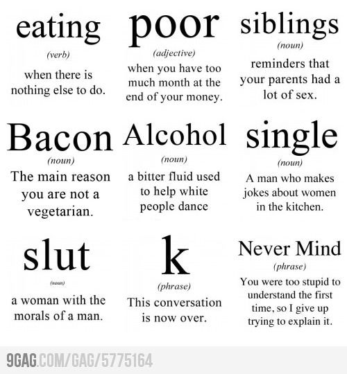 Some basic word meanings | Makes Me Laugh | Tumblr funny