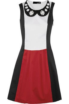 Love Moschino Color-block stretch-cotton dress | THE OUTNET