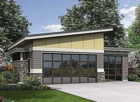 Plan 69618am contemporary garage plan modern garage for Garage apartment plans modern