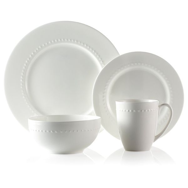 House  sc 1 st  Pinterest & Roscher 32-piece Hobnail Bone China Dinnerware Set | Overstock.com ...