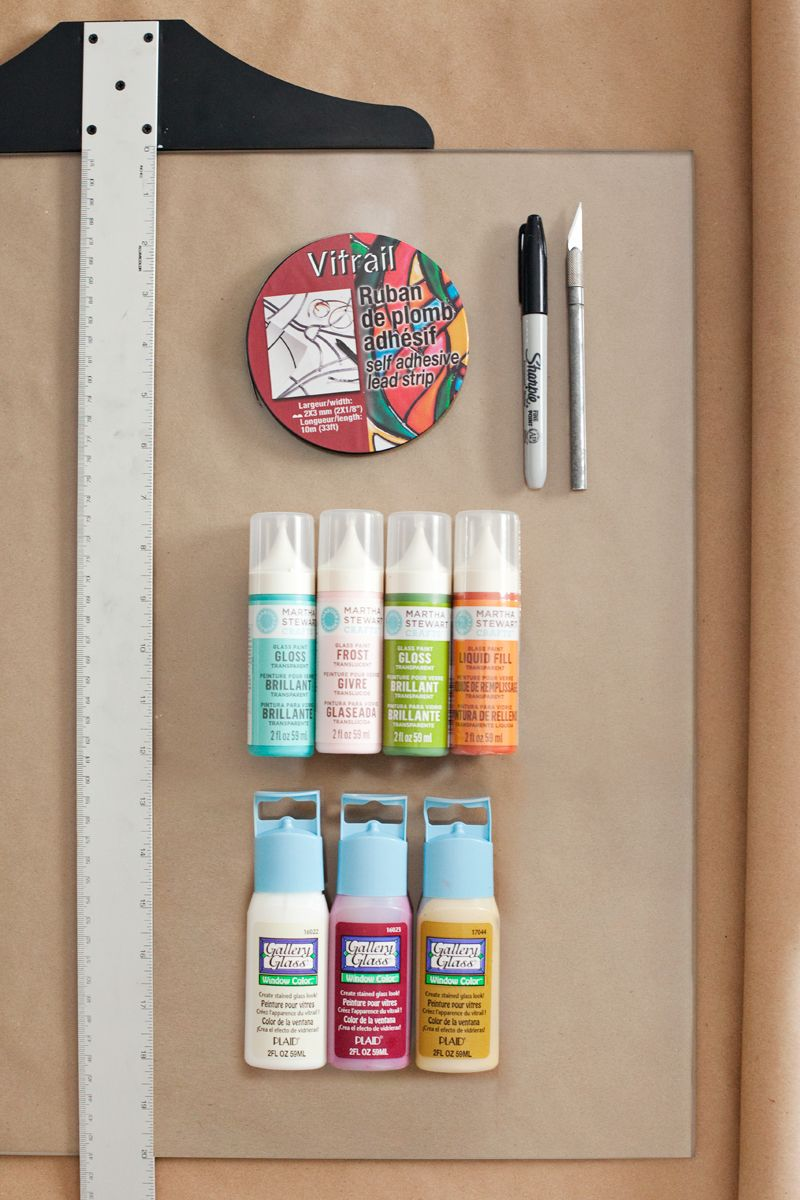 diy stained glass window paint