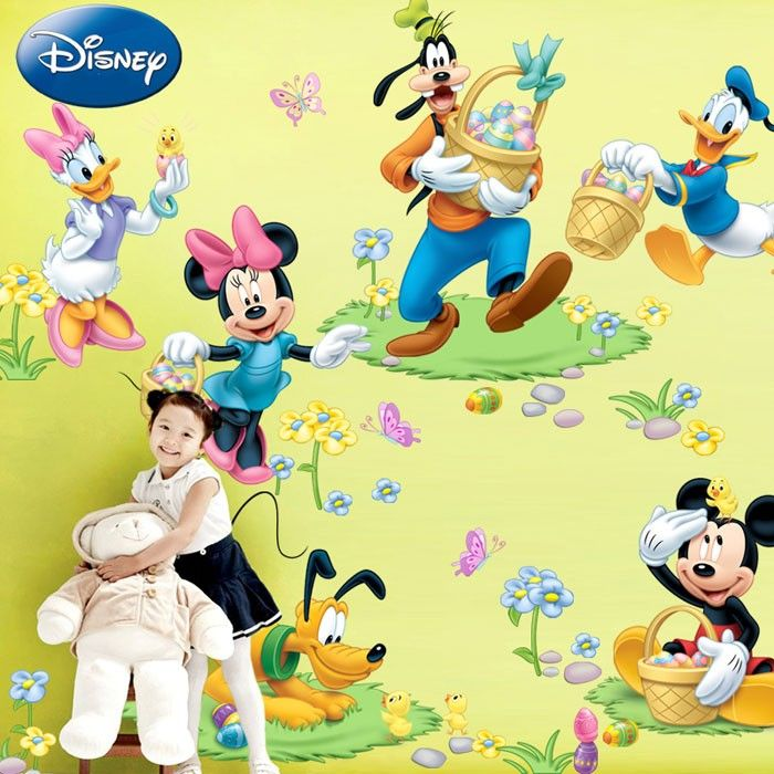 Disney Mickey Mouse Peel and Stick Wall Decals | Nursery ideas ...