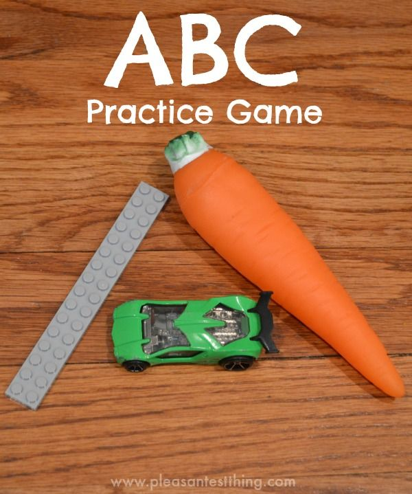 Learn letters - practice the ABC's while moving. Great game for preschoolers and toddlers
