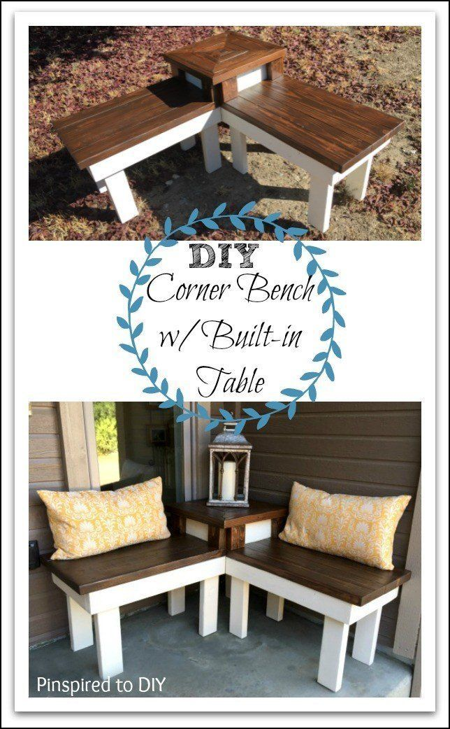 DIY Corner Bench with Builtin Table Easy woodworking