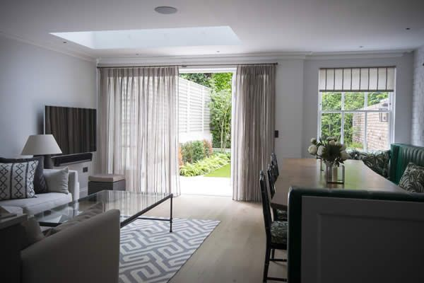 Voile Curtains For Bifold Doors And French Windows Blinds For