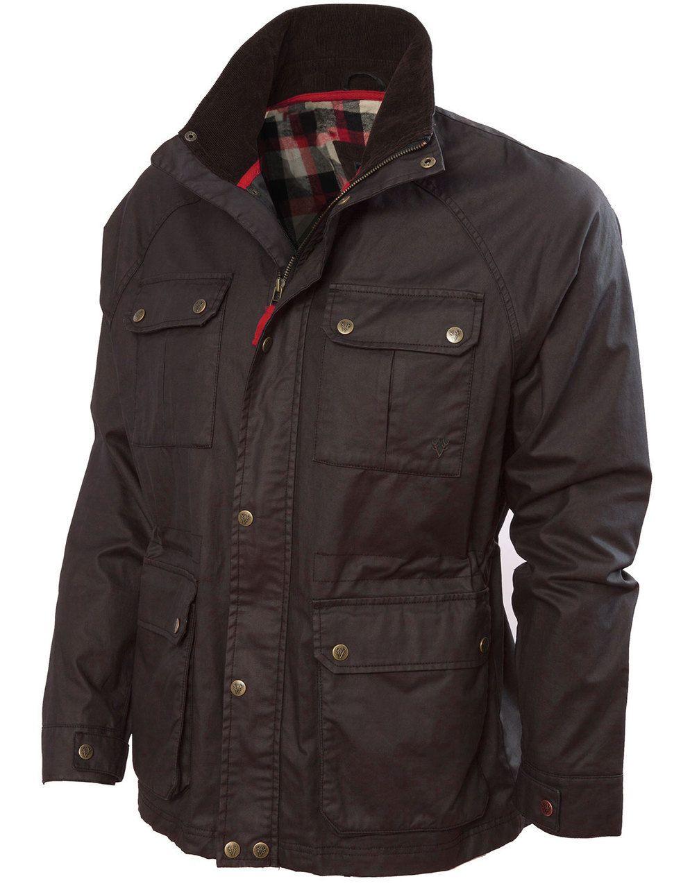 828674d090b Mens Wax Jacket (3050 Black) dry wax waxed coat biker country style ...