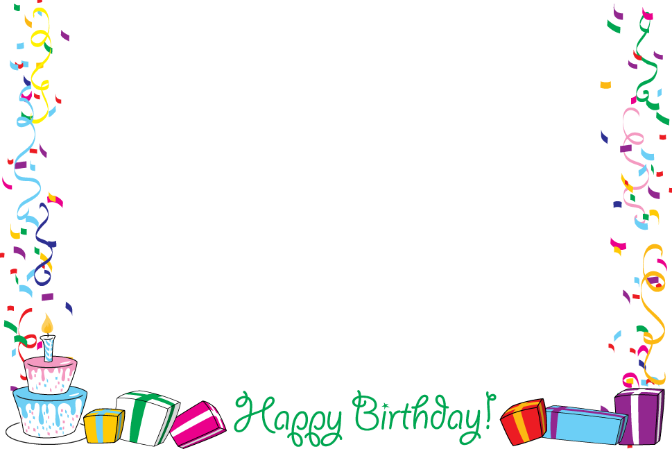 Free Birthday Borders And Frames