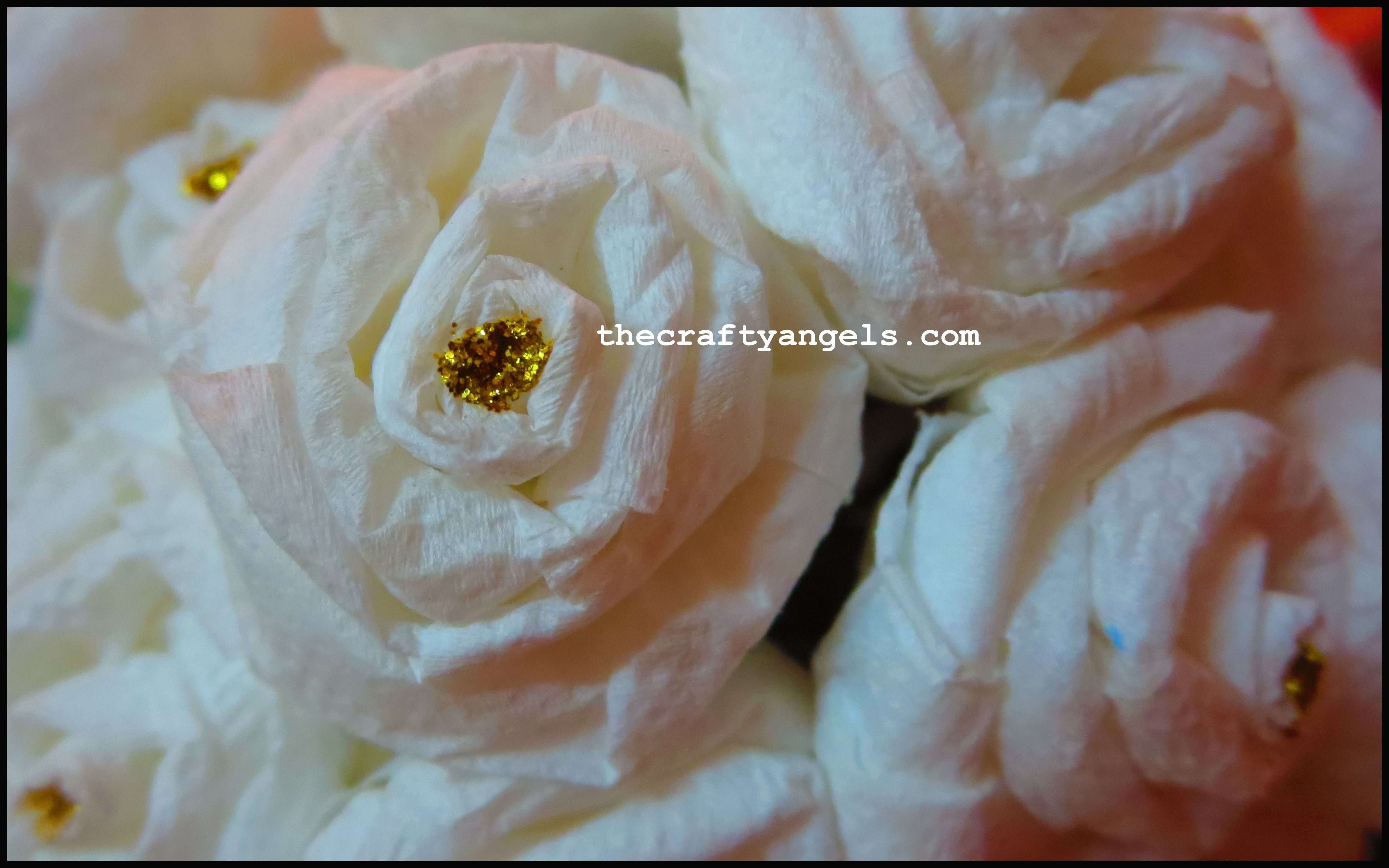 How To Make Tissue Paper Rose Flowers The Crafty Angels Flower