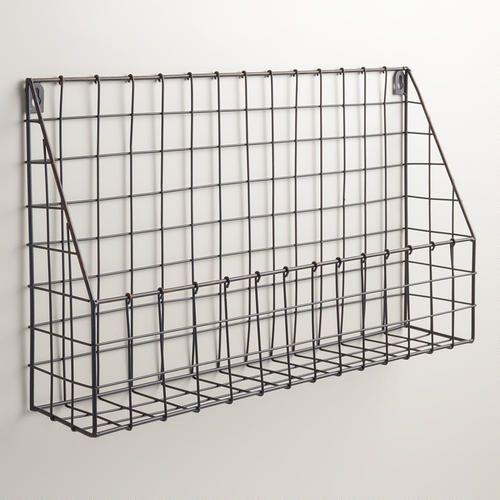 Black Braedyn Wire Wall Storage | World Market