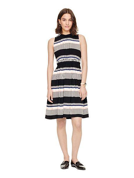 Kate Spade New York Womens Floral Jacquard Dress Fresh White - Dresses