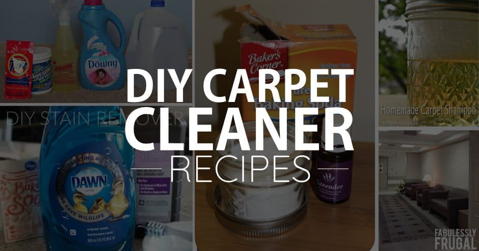 5 Homemade Carpet Cleaner Solutions Fabulessly Frugal