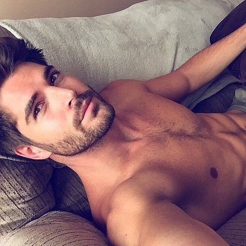 Sexy boy in bed