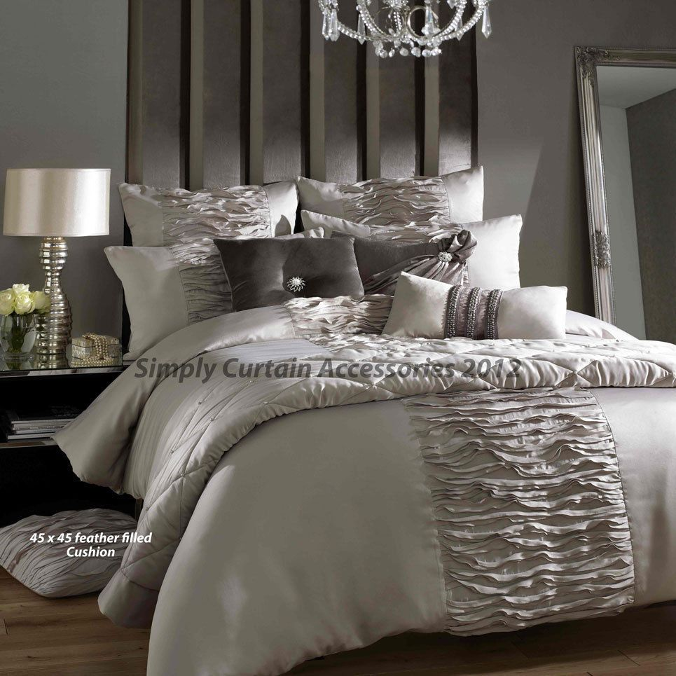 Kylie Minogue At Home Taupe Giana Truffle Bed Linen Duvet Covers Pillow Cases Bedding Furniture Debenhams