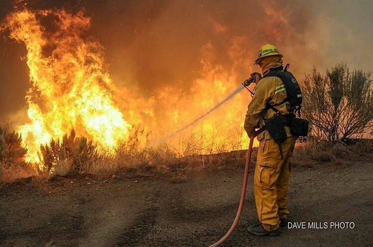 FEATURED POST davemillsphoto 2010 Crown Fire LACoFD