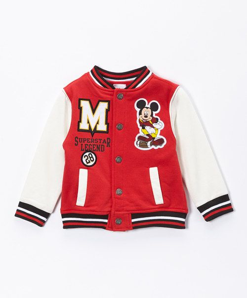 cb037c4489f9 Look at this Mickey Mouse Letterman Jacket - Toddler on  zulily ...