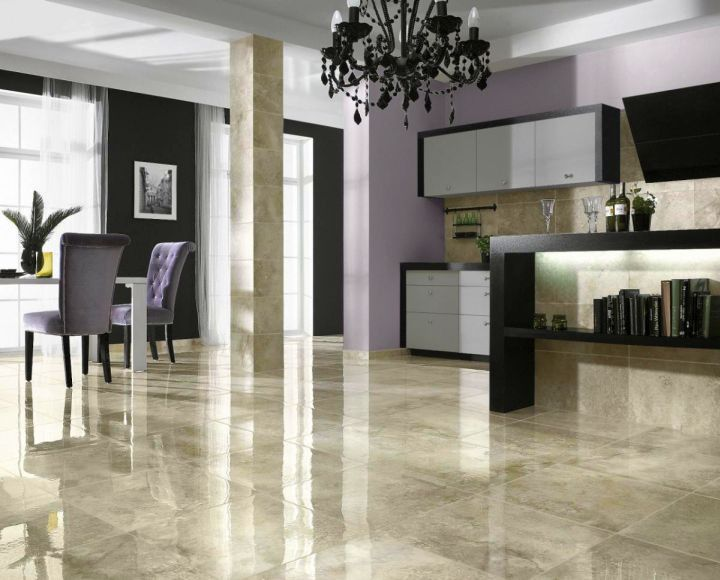 Attirant Granite Flooring To Beautify Your Living Room