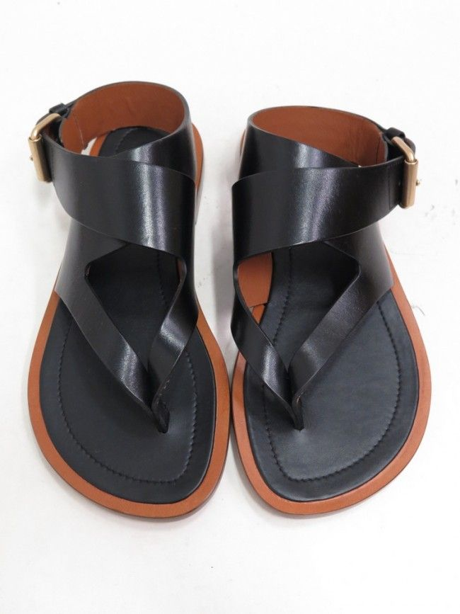 free shipping cheap real excellent cheap online Céline Leather Thong Sandals best wholesale discount shopping online 2QyVEA46