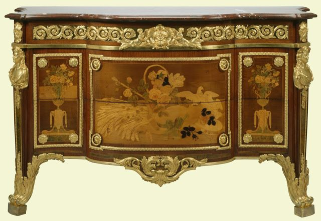 Chest-of-drawers (commode), c1774 Louis XVI, made for the Chambre