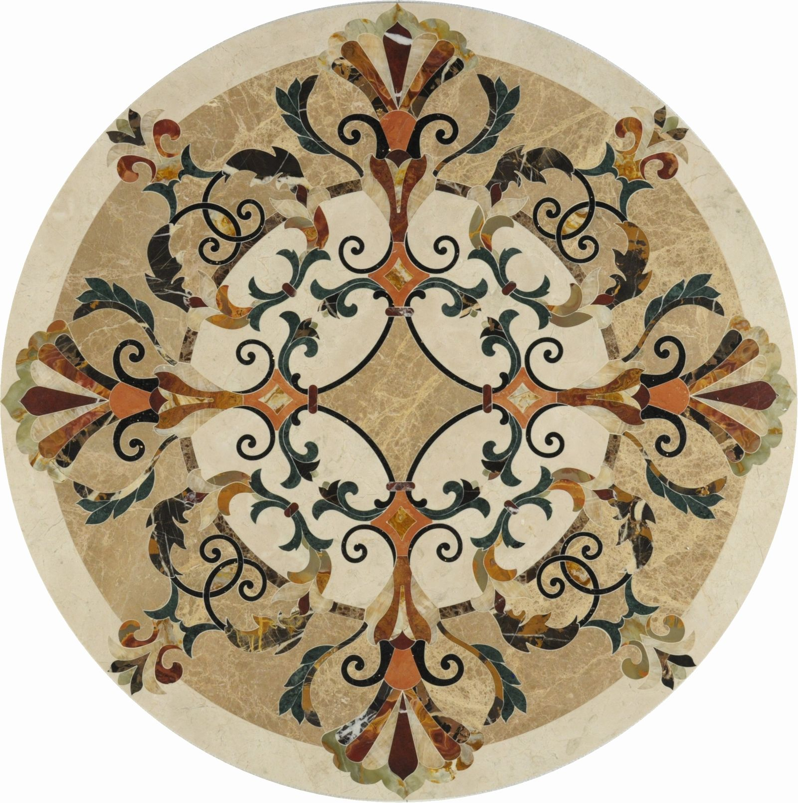 Round Mosaic Tile Patterns: Round Mosaic; Floor Medalion