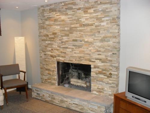 resurface fireplace with stone. Ledger Stone Golden Honey  Google Search Fireplace Living RoomsFireplace RedoFireplace Basement Pinterest