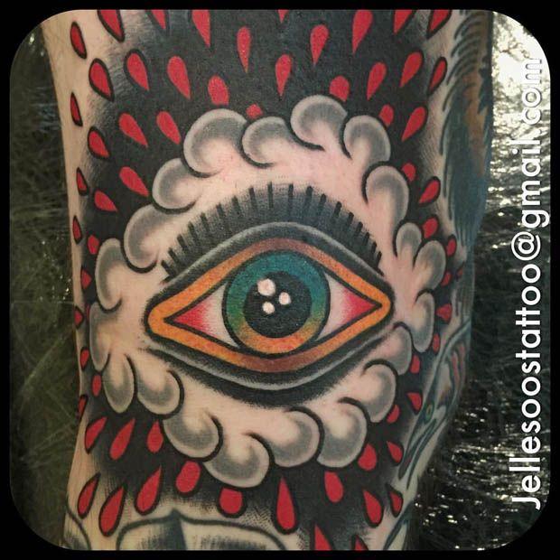 Eyeball tattoo by Jelle Soos. #inked #inkedmag #eye #eyeball ...