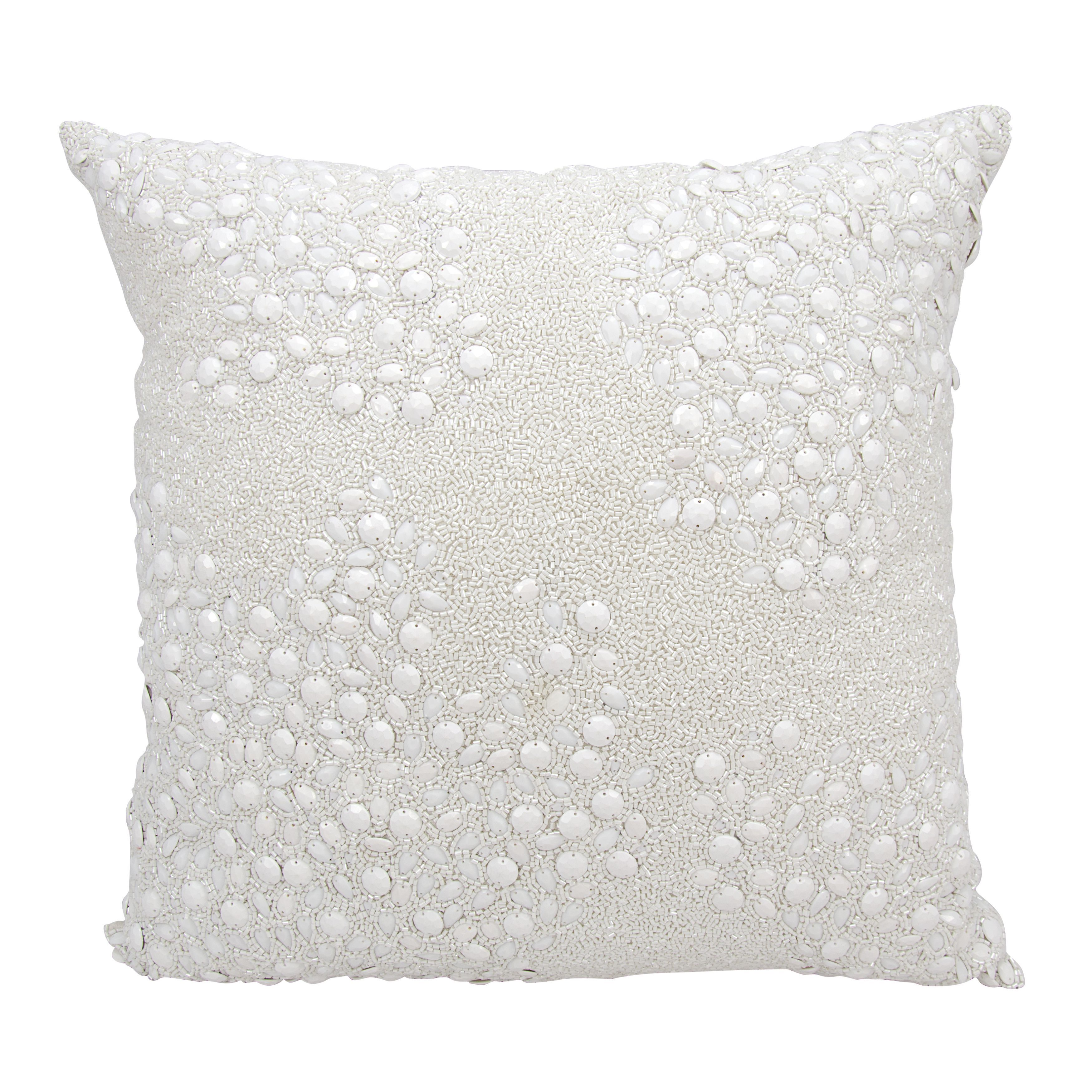 White Accent Pillows 20x20 inch