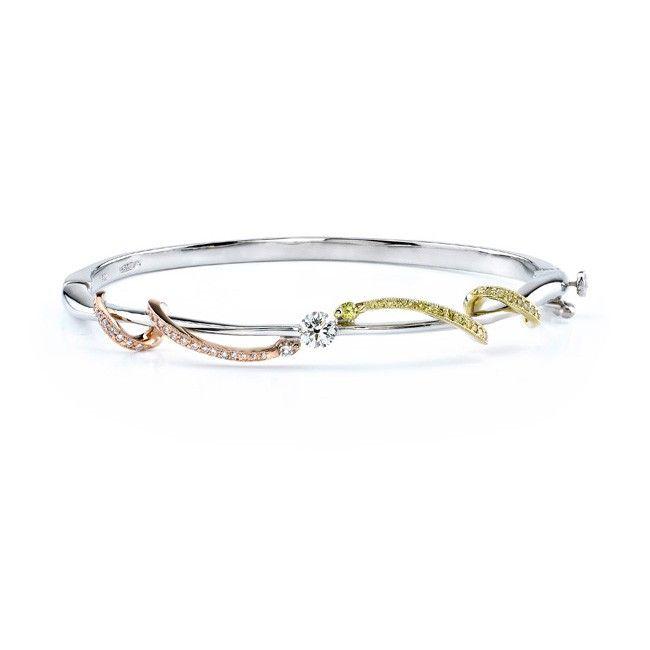 Tri Color Diamond Bracelet 7057BW