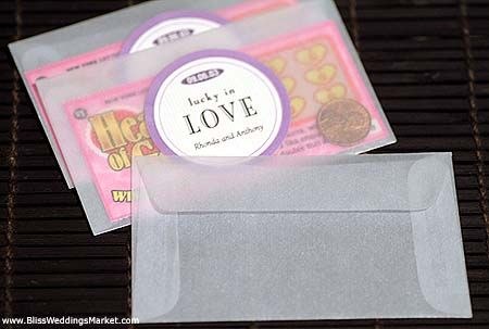 Cute Idea For A Favor Lucky In Love Envelope With Penny And