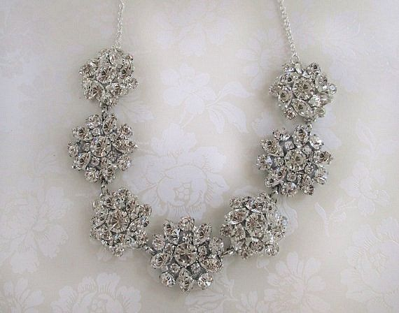 Bridal Necklace wedding jewelry Crystal by MissJoansBridal on Etsy