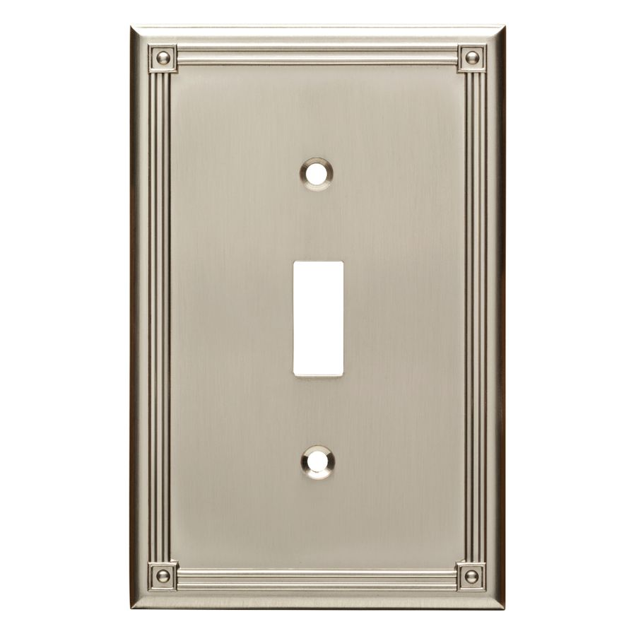 Lowes Wall Plates Brainerd Ruston 1Gang Satin Nickel Single Toggle Wall Plate  17Th