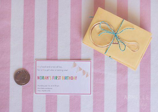 Tiny invitations Darling tiny invites by Caroline Armelle party