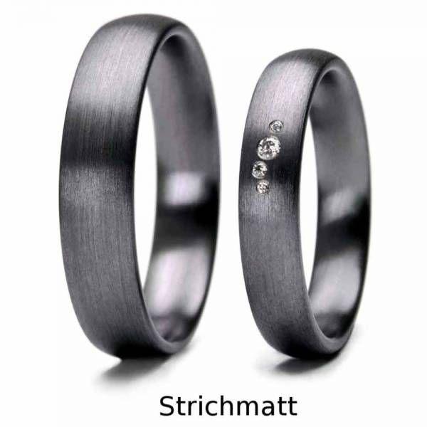 Just Damenring Keramik Ring Silberfarbig Fingerring Verlobungsring Partnerring