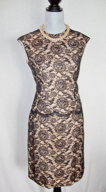 Vintage s leslie fay black lace dress via etsy my fashion