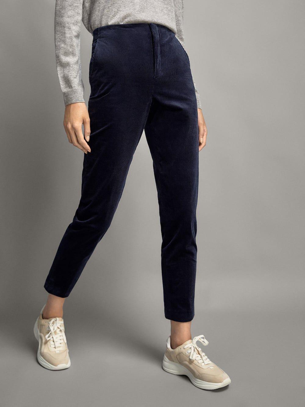 Pantalon Chino Pana Mujer Massimo Dutti Espana Pantalones De Pana Ropa Pantalones