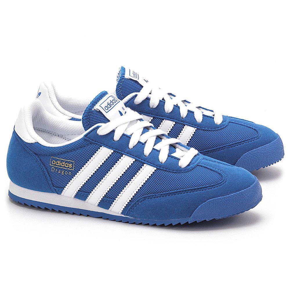 Adidas Dragon J Niebieskie Nylonowe Sportowe Damskie D67715 D67715 Buty Kobiety Sportowe Mivo Adidas Samba Sneakers Adidas Sneakers Sneakers