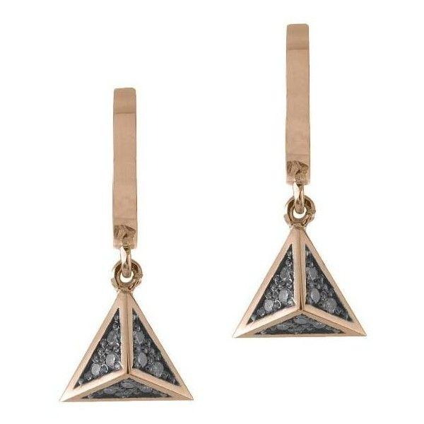 Jezebel London Dean Hoop Earrings 35 910 INR ❤ liked on